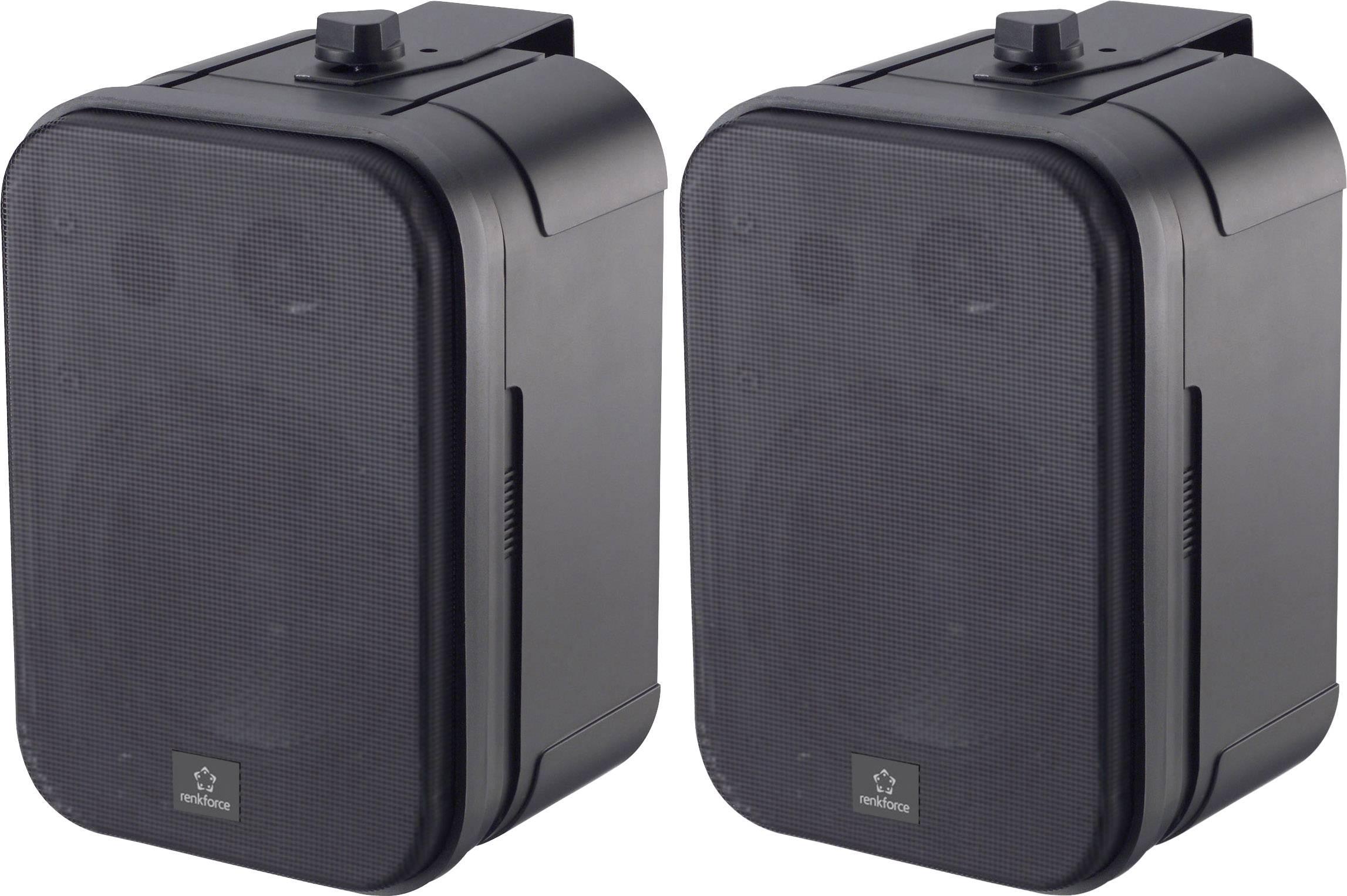 Vonkajšie reproduktory Renkforce Control 250 30 W IP54 čierna 1 pár