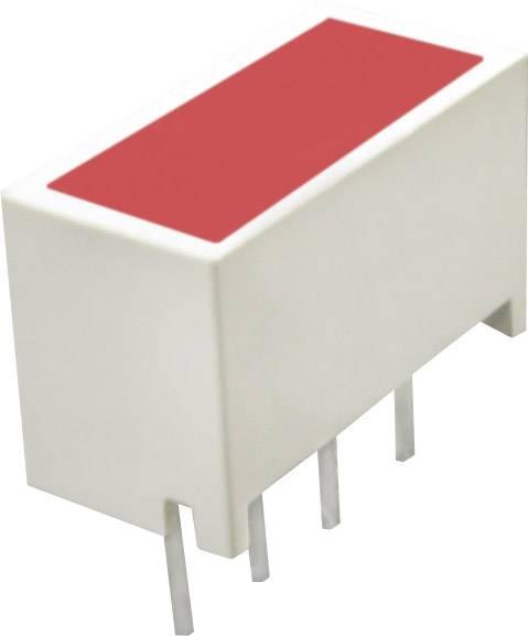 Plochá LED 4násobná Kingbright KBC100SRD, LIGHT-BAR-LED, 10 mm, super červená
