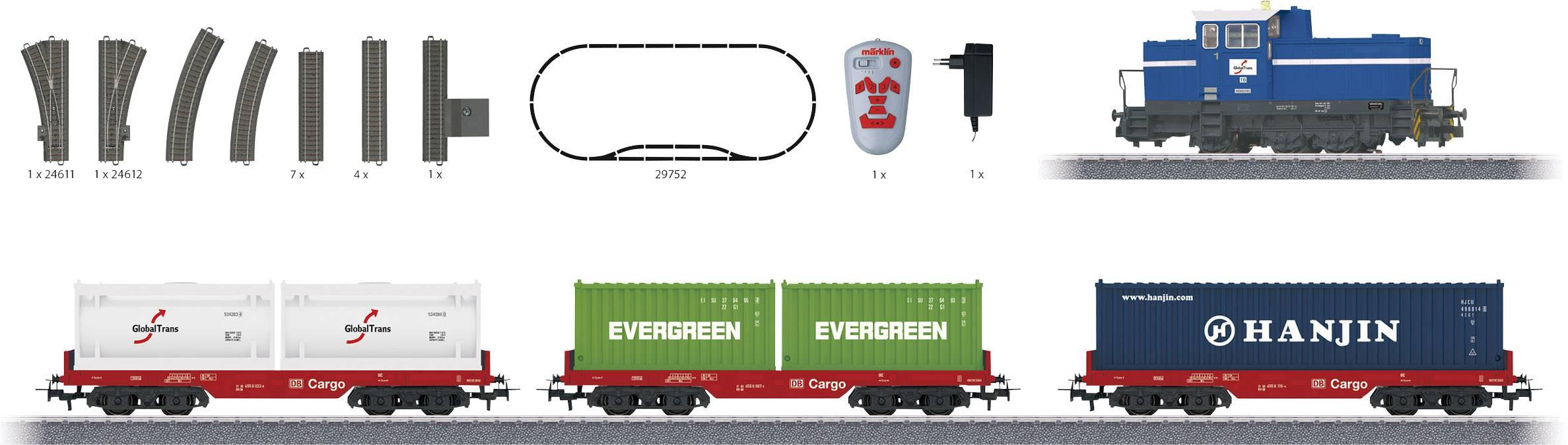 Nákladní vlak s kontejnerovými vagóny a dieselovou lokomotivou Märklin Start up 29452