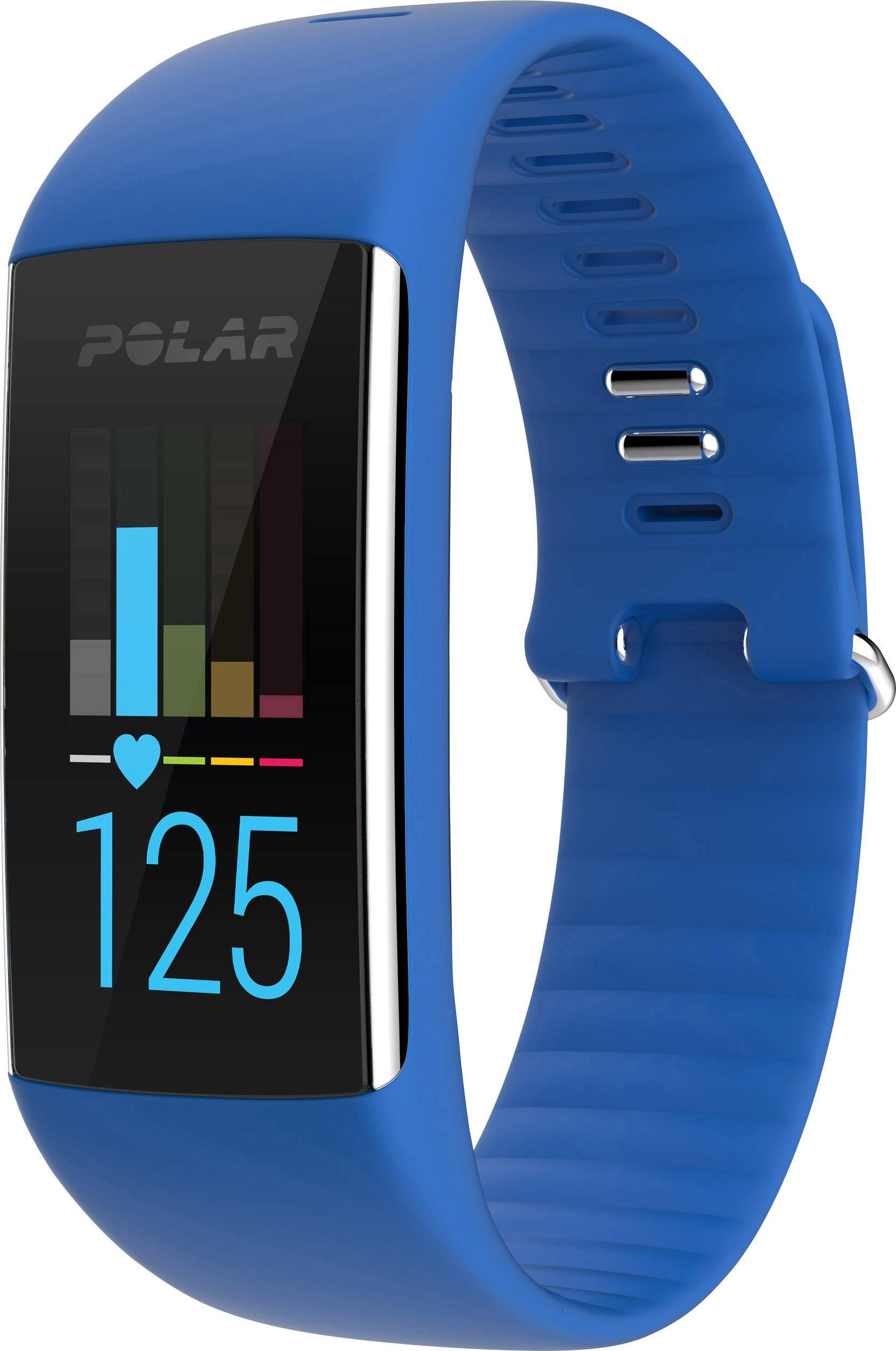 Fitness hodinky s integrovaným senzorom Polar A360 Blau, veľkosť: M, modrá