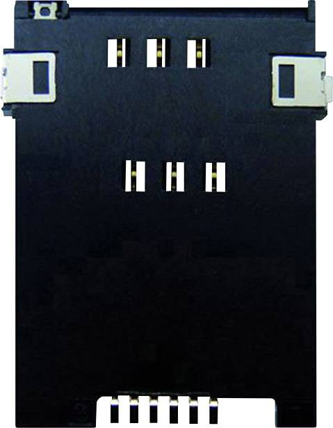 Zásuvka na kartu SIM Yamaichi, počet kontaktů: 6, stisk, stisk, 1 ks