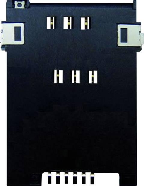 Zásuvka na kartu SIM Yamaichi, počet kontaktů: 6 + 2, vč. spínače, stisk, stisk, 1 ks