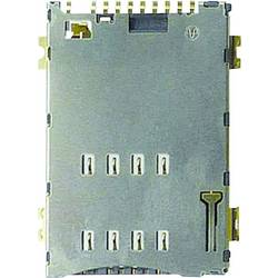 Zásuvka na kartu SIM Yamaichi, počet kontaktů: 8, vč. spínače, stisk, stisk, 1 ks