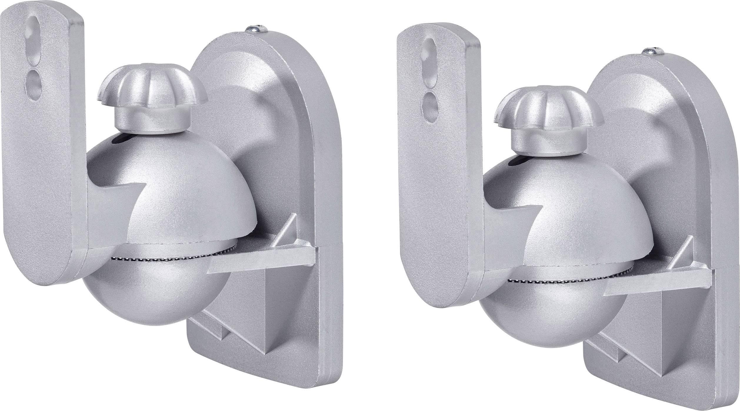 Držiak na stenu pre reproduktory SpeaKa Professional SP-5665420, strieborná, 1 pár