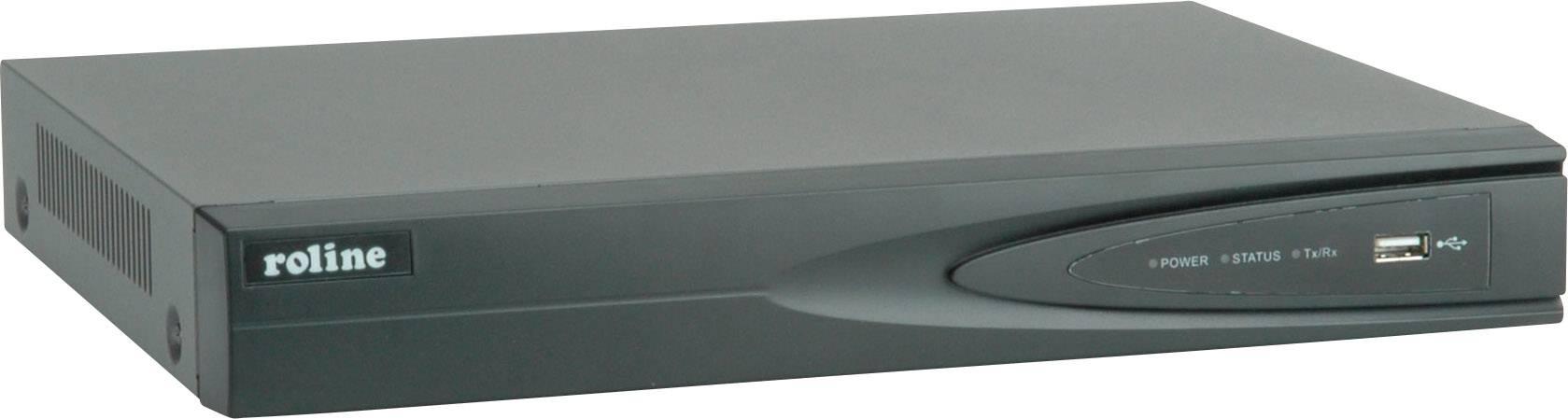 Sieťový IP videorekordér (NVR) pre bezp.kamery Roline RNR0104P 21.19.7310, 4-kanálový