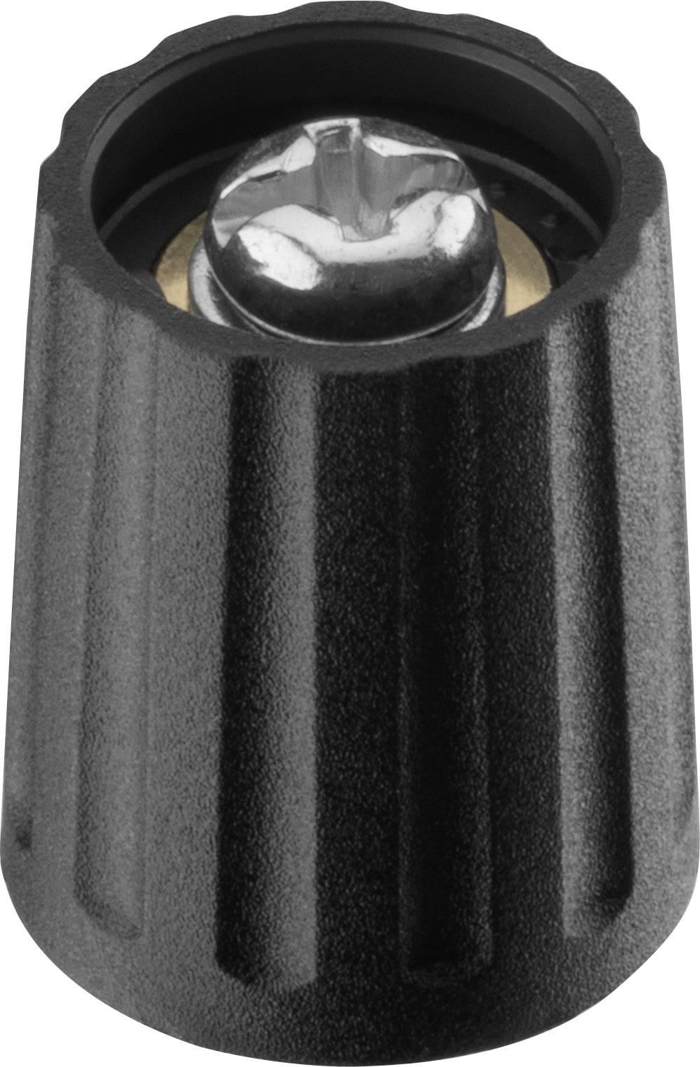 Otočný knoflík Ritel 26 13 60 3, (Ø x v) 13 mm x 15.5 mm, černá, 1 ks