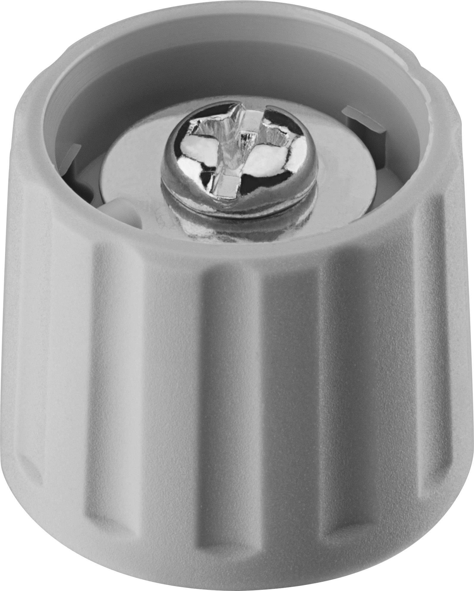 Otočný gombík Ritel 26 21 60 1, (Ø x v) 21 mm x 17.5 mm, sivá, 1 ks