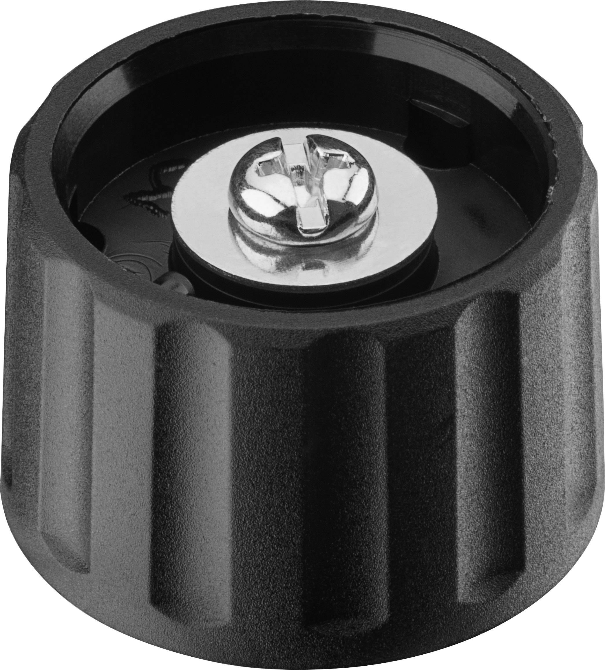 Otočný knoflík Ritel 26 28 60 3, (Ø x v) 28 mm x 18.2 mm, černá, 1 ks