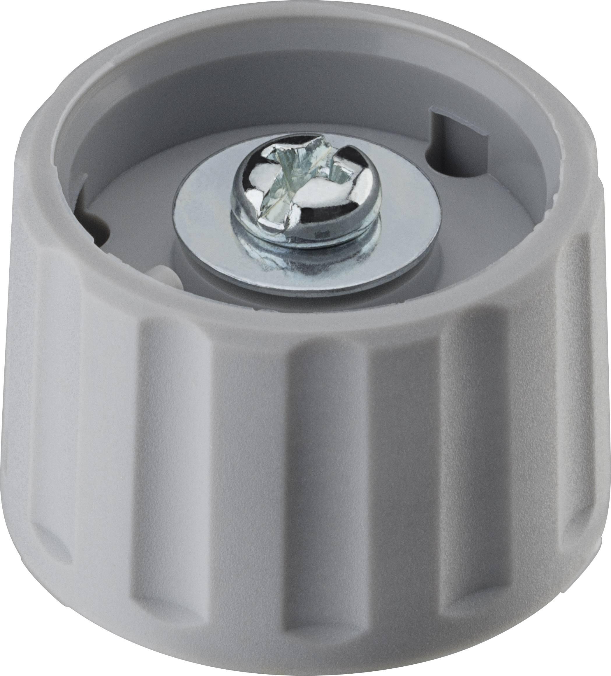 Otočný gombík Ritel 26 28 60 1, (Ø x v) 28 mm x 18.2 mm, sivá, 1 ks