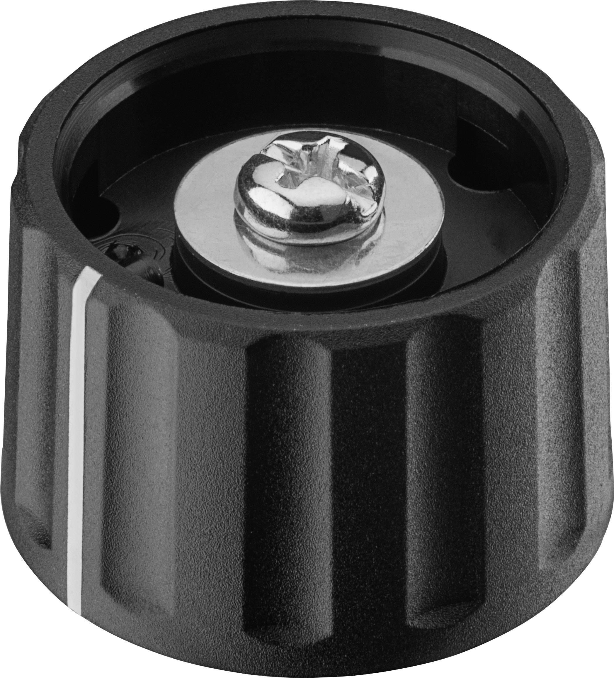Otočný knoflík Ritel 27 28 60 3, (Ø x v) 28 mm x 18.2 mm, černá, 1 ks