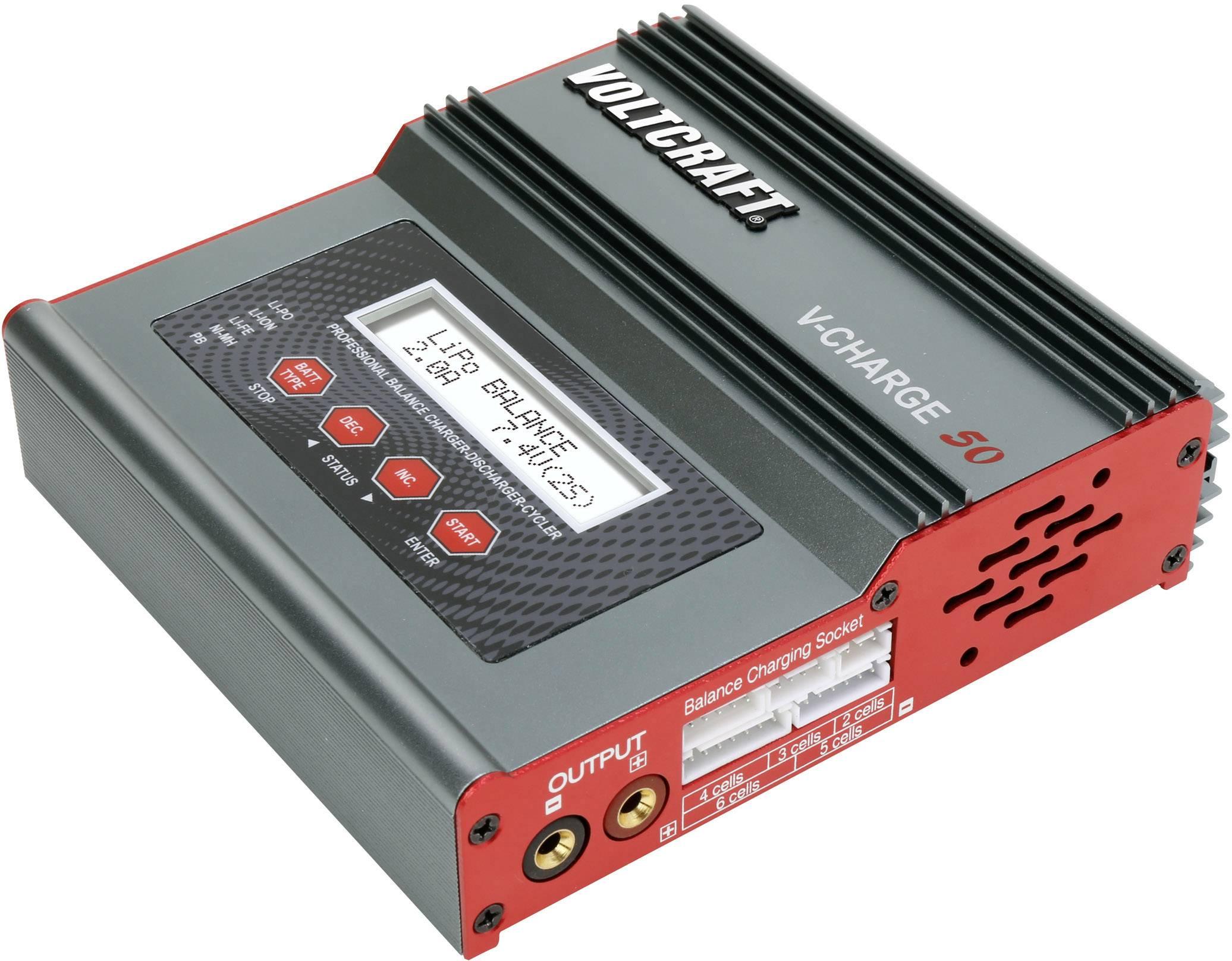 Modelárska multifunkčná nabíjačka VOLTCRAFT V-Charge 50 1416554, 12 V, 230 V, 7 A