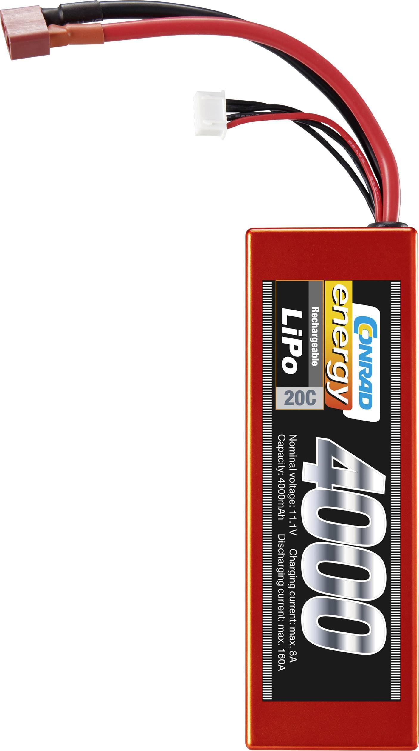 Akupack Li-Pol (modelářství) Conrad energy Hardcase, T zásuvka 11.1 V, 4000 mAh, 20 C