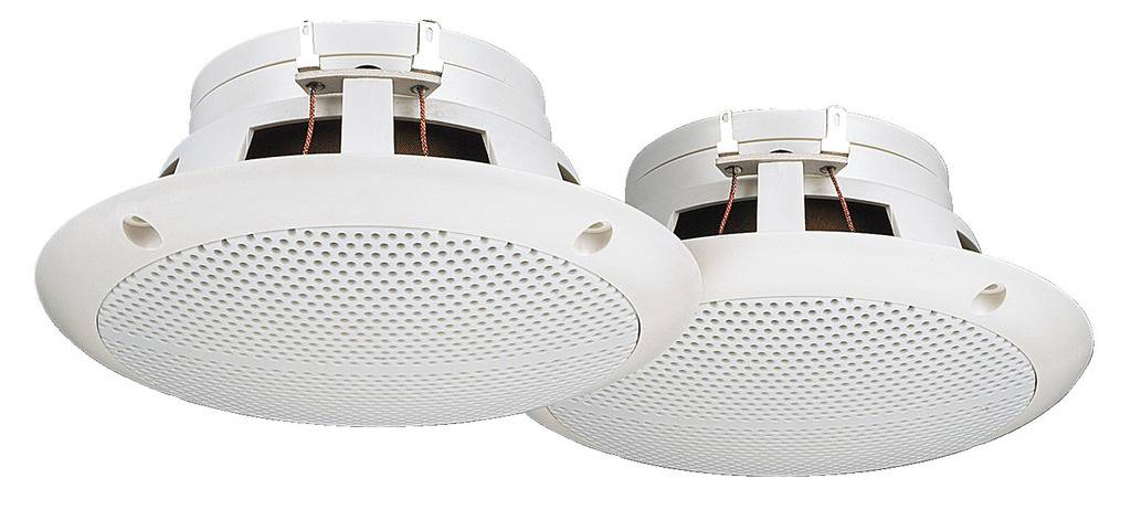 Zabudovateľný reproduktor Monacor SPE-230BT, biela, 1 pár