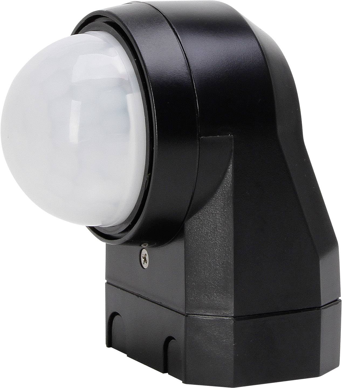 Senzor pohybu PIR Kopp 824605012, 240 °, relé, čierna, IP54