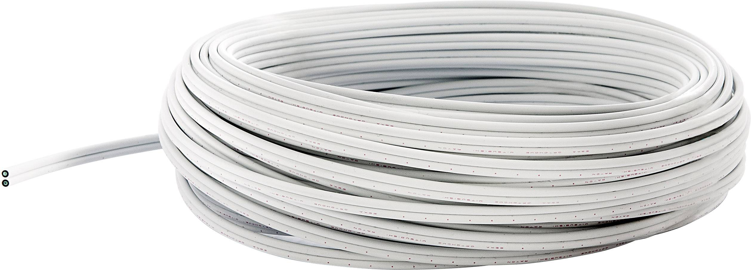 Optický kabel POF fuba WebFiber WFL 500 29104063, Simplex, bílá, 50 m