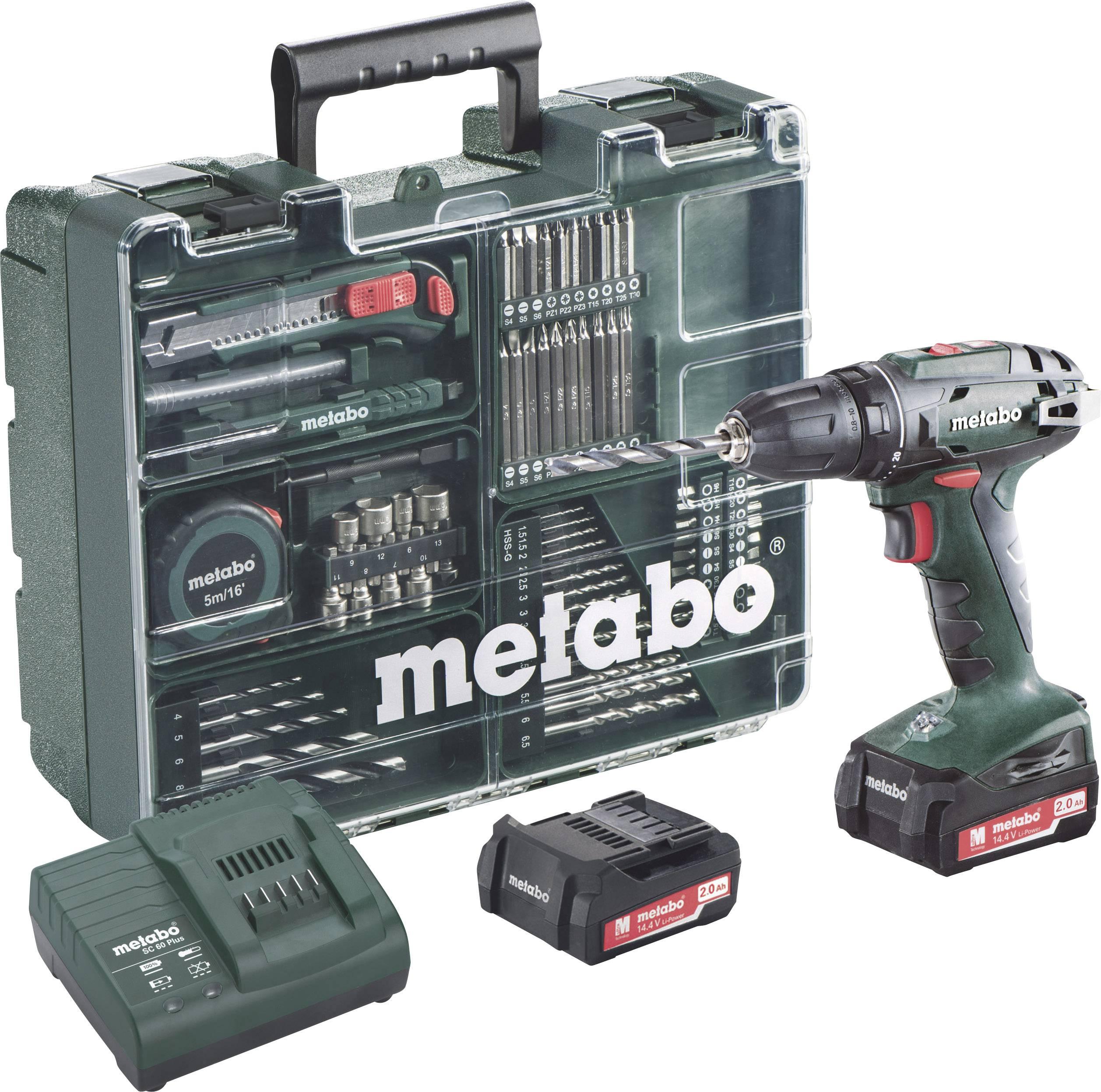 Aku vrtací šroubovák Metabo BS 14.4 602206880, 14.4 V, 2 Ah, Li-Ion akumulátor