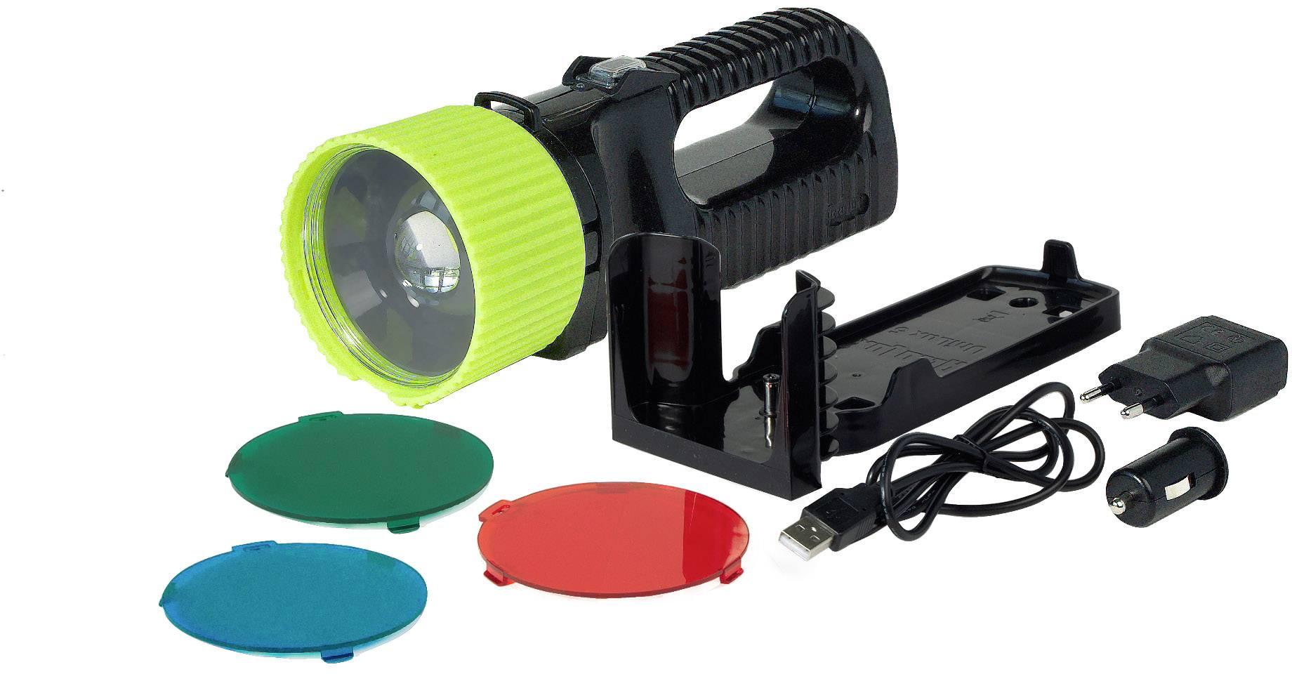 Vreckové svietidlo (baterka) AccuLux 442081, čierna, zelená