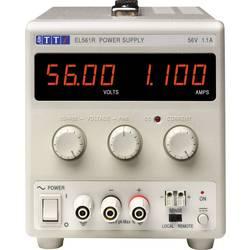 Laboratorní zdroj s nastavitelným napětím Aim TTi EL561R, 0 - 56 V/DC, 0 - 1.1 A, 60 W, Počet výstupů: 1 x