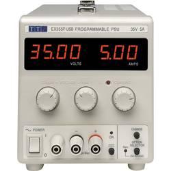 Laboratorní zdroj s nastavitelným napětím Aim TTi EX355P-USB, 0 - 35 V, 0 - 5 A, 175 W, Počet výstupů: 1 x