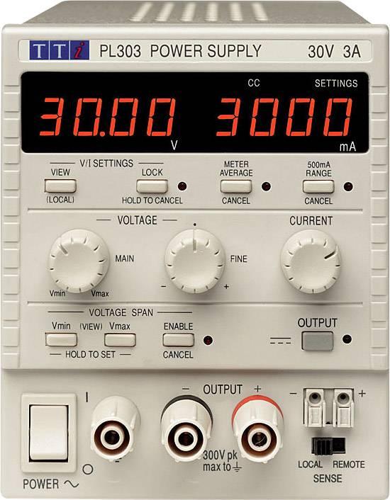 Laboratorní zdroj s nastavitelným napětím Aim TTi PL303-P, 0 - 30 V/DC, 0 - 3 A, 90 W, Počet výstupů: 1 x