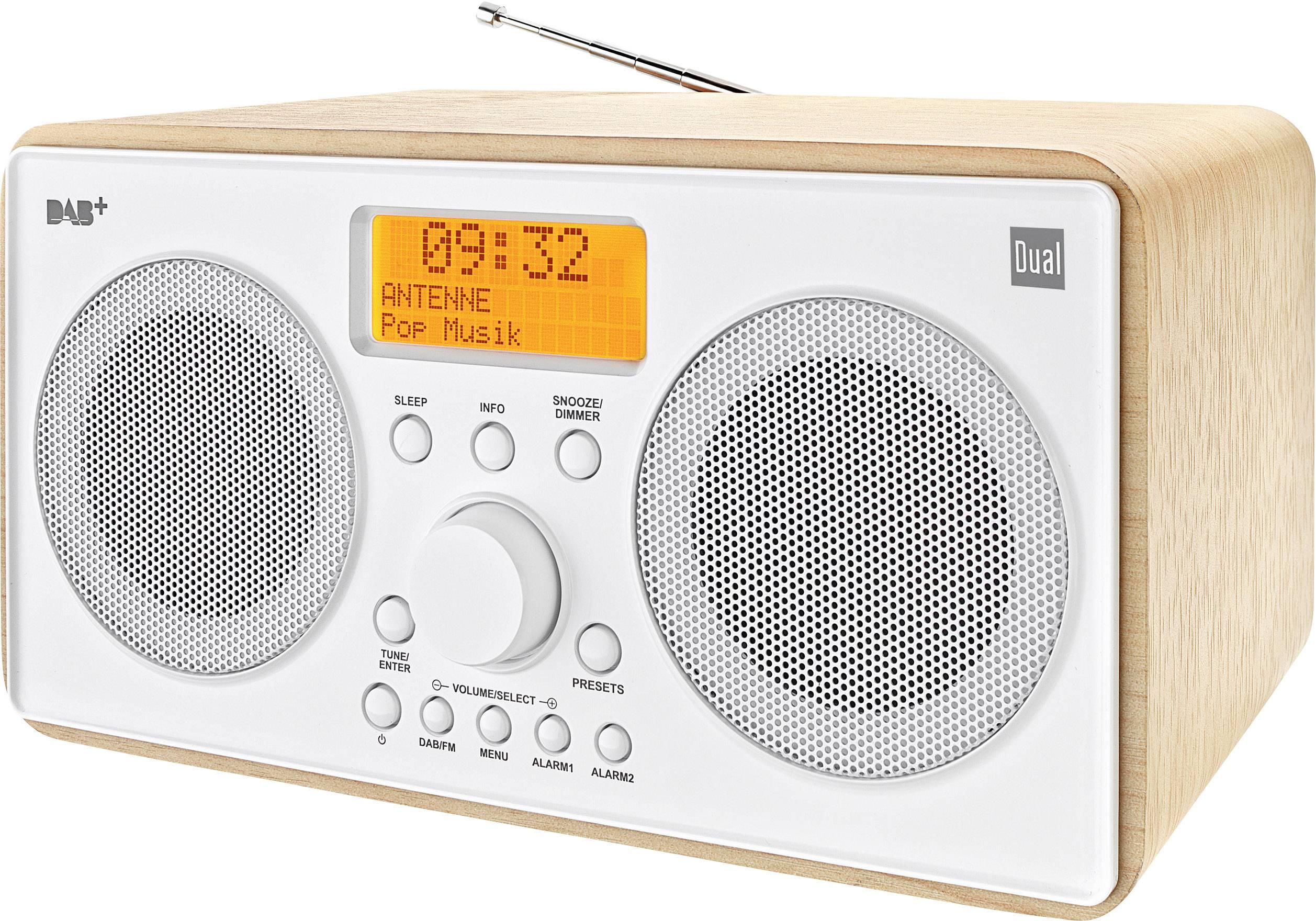 DAB+ stolní rádio Dual DAB 27, DAB+, FM, dřevo