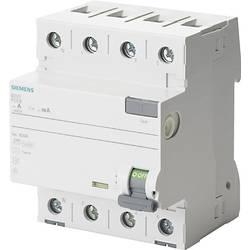 Proudový chránič Siemens 5SV3346-6KL, 63 A 0.03 A 400 V 4pólový