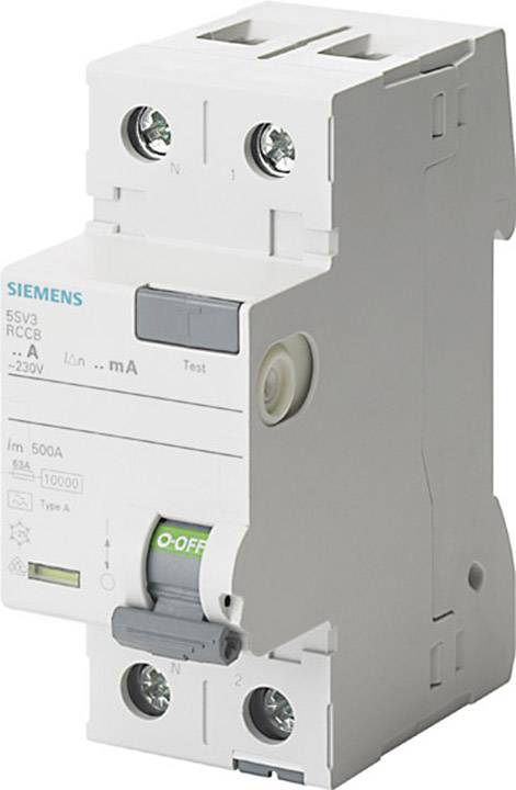 Proudový chránič Siemens 5SV3412-6KL 25 A 0.1 A 230 V 2pólový