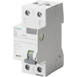 Proudový chránič Siemens 5SV3412-6, 25 A 0.1 A 230 V 2pólový