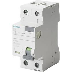 Proudový chránič Siemens 5SV3416-6KL, 63 A 0.1 A 230 V 2pólový