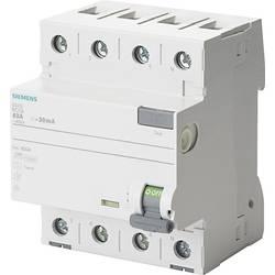 Proudový chránič Siemens 5SV3442-6, 25 A 0.1 A 400 V 4pólový