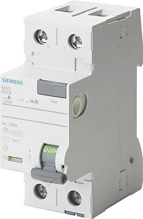 Proudový chránič Siemens 5SV3614-6KL 40 A 0.3 A 230 V 2pólový