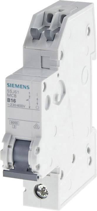 Elektrický jistič Siemens 5SJ6120-7KS, 1pólový, 1 A, 230 V, 400 V