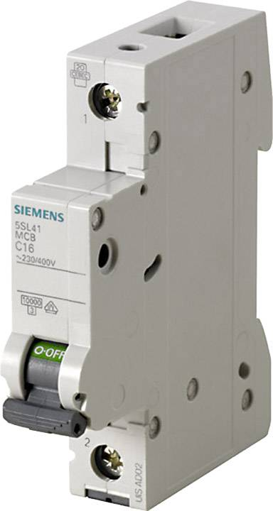 Elektrický jistič Siemens 5SL4125-6, 1pólový, 25 A, 230 V, 400 V