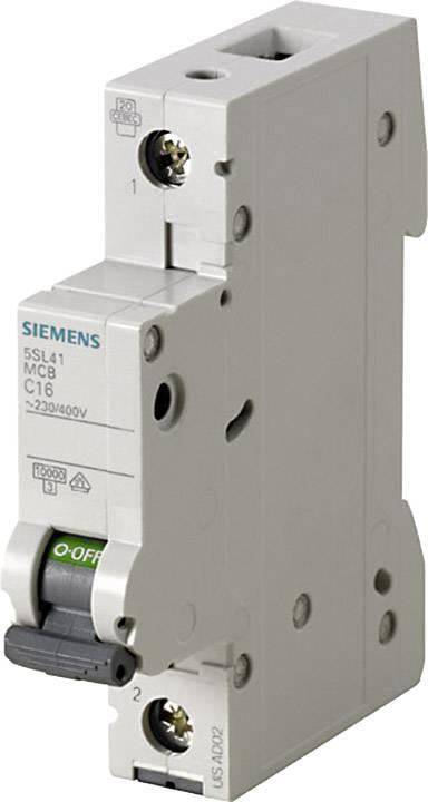 Elektrický jistič Siemens 5SL4106-8, 1pólový, 6 A, 230 V, 400 V
