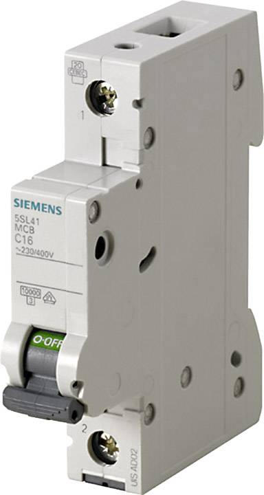 Elektrický jistič Siemens 5SL4102-8, 1pólový, 2 A, 230 V, 400 V