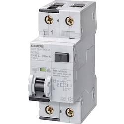 Proudový chránič/elektrický jistič Siemens 5SU1354-7KK20, 2pólový, 20 A, 0.03 A, 230 V