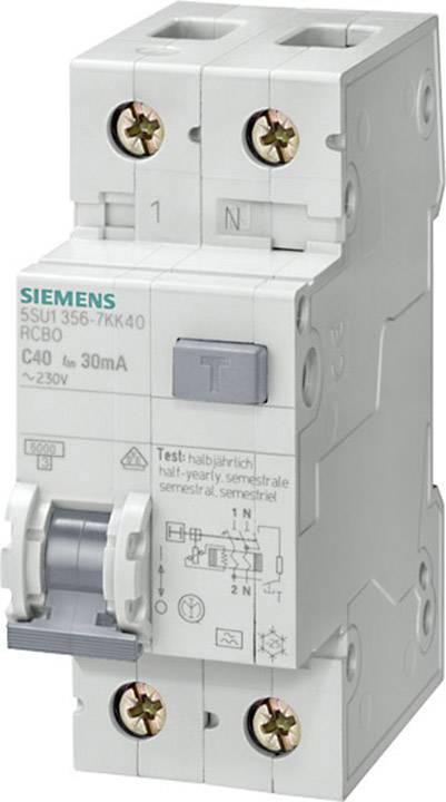 Proudový chránič/elektrický jistič Siemens 5SU1656-7KK25, 2pólový, 25 A, 0.3 A, 230 V