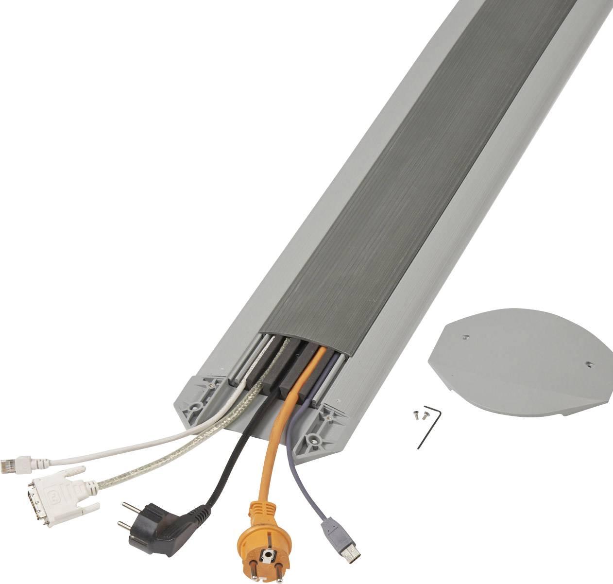 Kabelový můstek Serpa B15, (d x š x v) 3000 x 150 x 17 mm, světle šedá, tmavě šedá, 1 sada