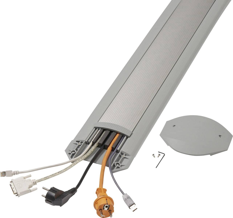 Kabelový můstek Serpa (d x š x v) 3000 x 150 x 17 mm, hliník, světle šedá, 1 sada