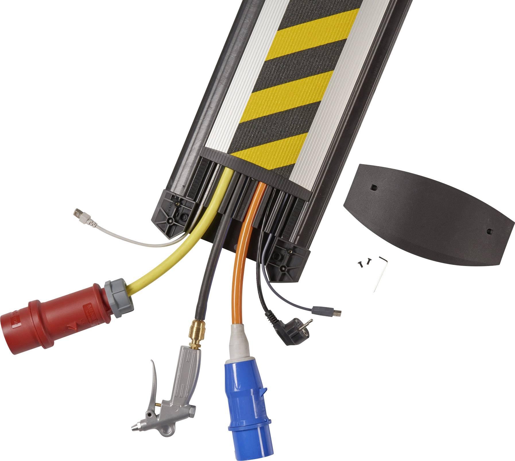 Kabelový můstek Serpa B25, (d x š x v) 1500 x 250 x 24 mm, černá, žlutá, 1 ks