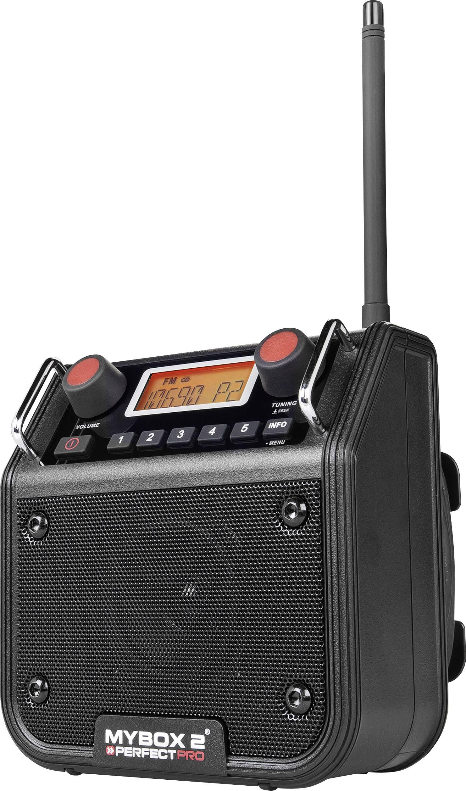 FM outdoorové rádio PerfectPro Mybox 2, AUX, FM, černá