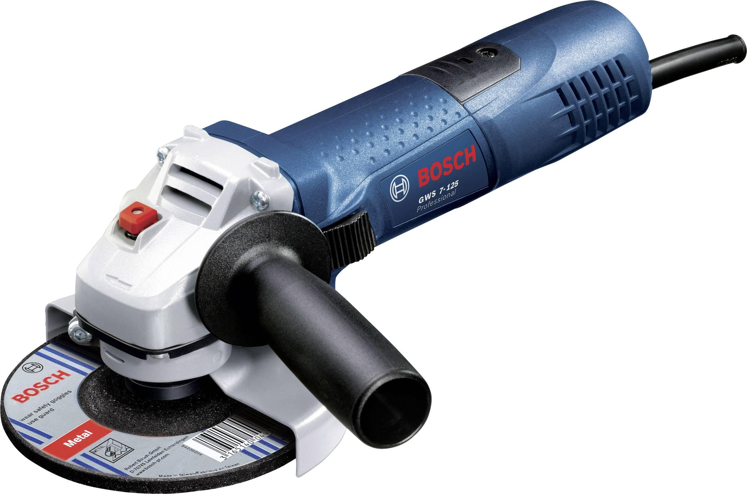 Úhlová bruska Bosch Professional GWS 7-125 0601388108, 125 mm, 720 W