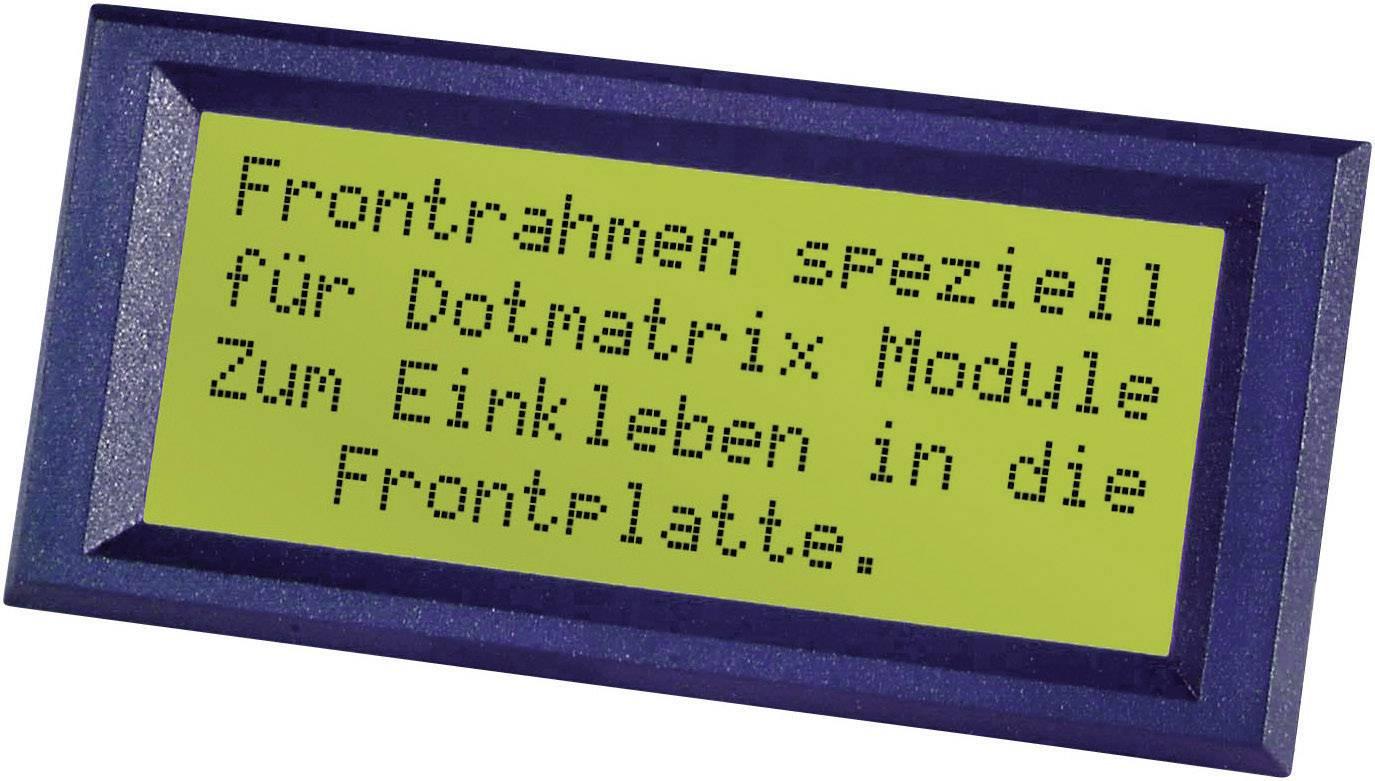 Predný rámček FRONTRAHMEN 2X20 INCL.K.-SCHEIBE, vhodný pro LCD displej 20 x 2, čierna, (š x v) 98 mm x 30 mm, ABS