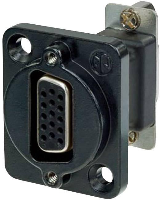 D-SUB adaptér Neutrik NADB15FF-B, D-SUB zásuvka 15pólová - D-SUB zásuvka 15pólová, 1 ks