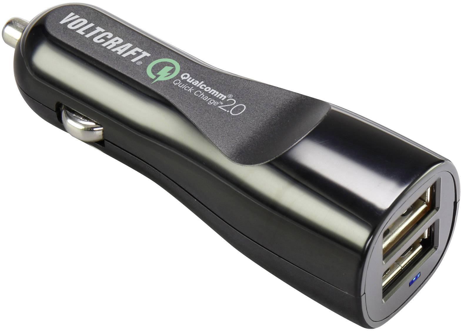 Dvojitá USB nabíjačka do auta VOLTCRAFT VC12/24 2,4A