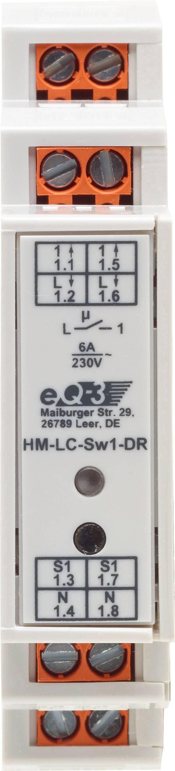 Bezdrôtový spínač klobúčikové tienidlo HomeMatic HM-LC-Sw1-DR 141378 1-kanálový , max. dosah 200 m