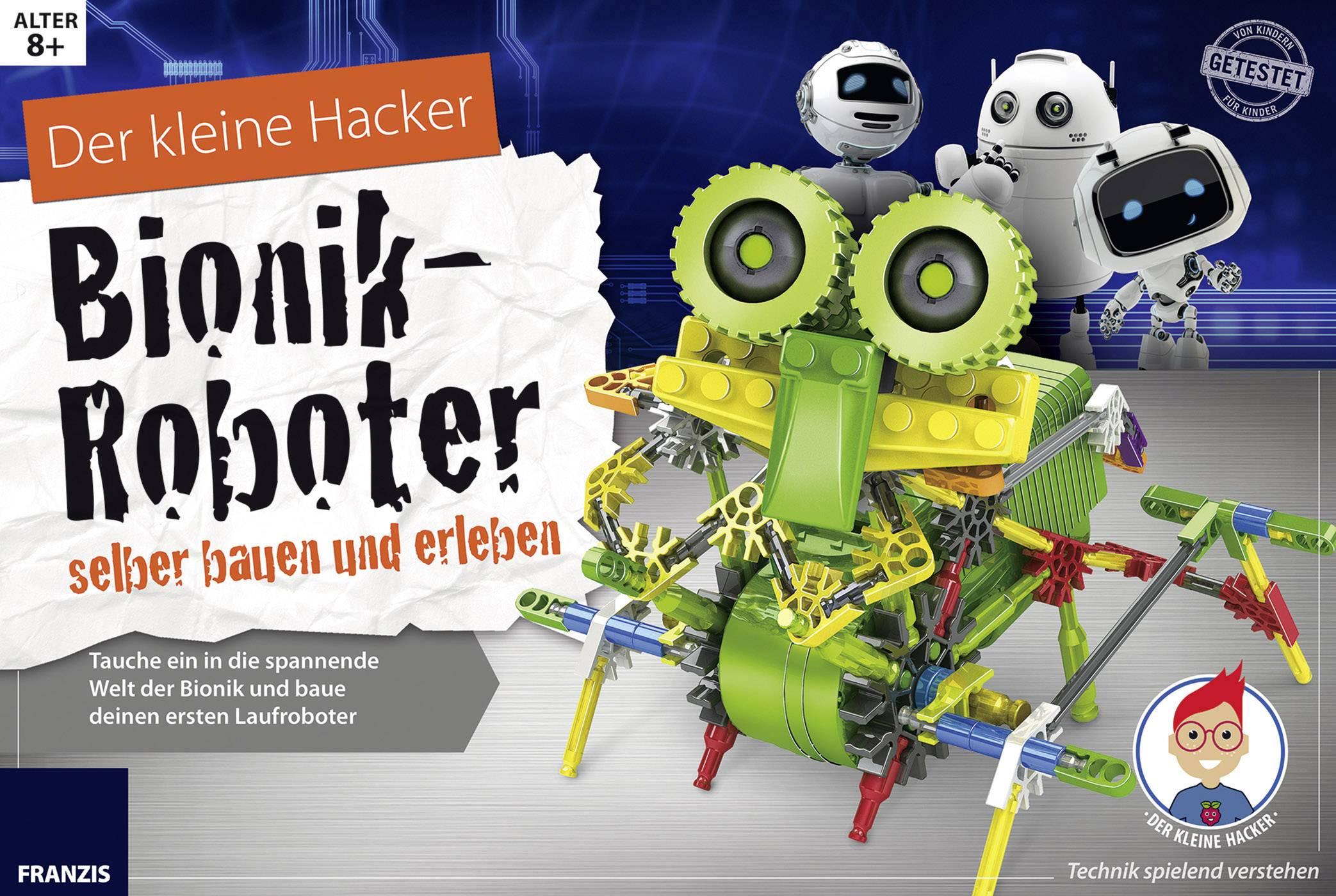 Experimentálny box Franzis Verlag Der kleine Hacker: Bionik-Roboter selber bauen und erleben 978-3-645-65326-8