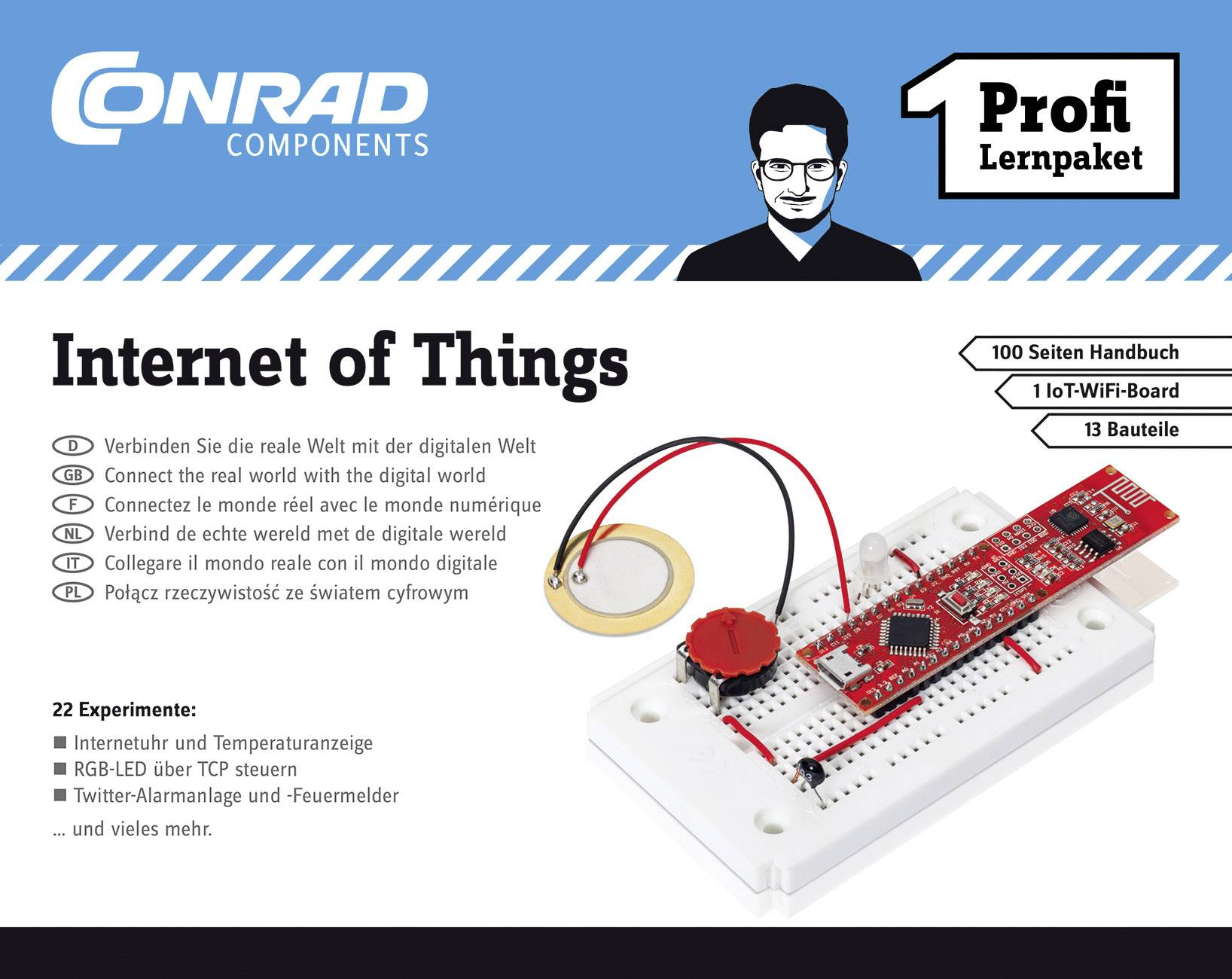 Výuková sada Conrad Components Profi Lernpaket Internet of Things 10215, od 14 let