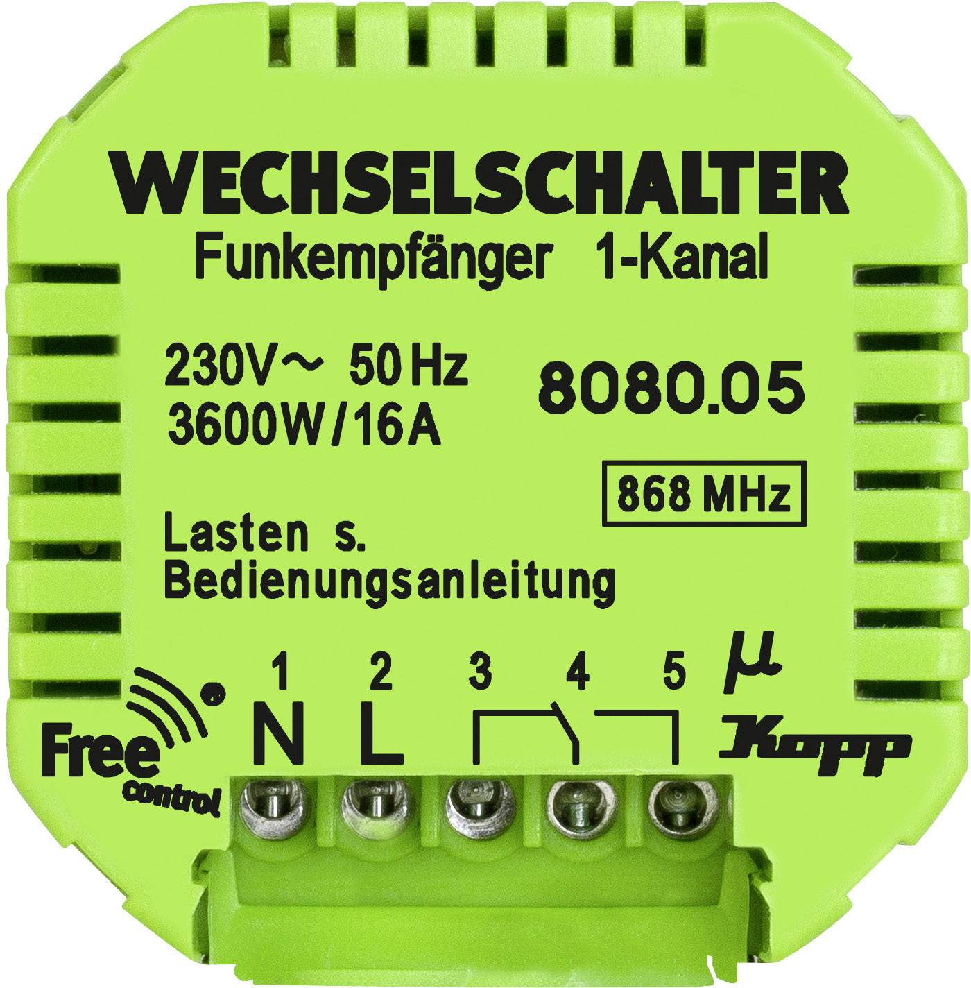 Bezdrôtový prijímač Free Control 808005128, 1-kanálový