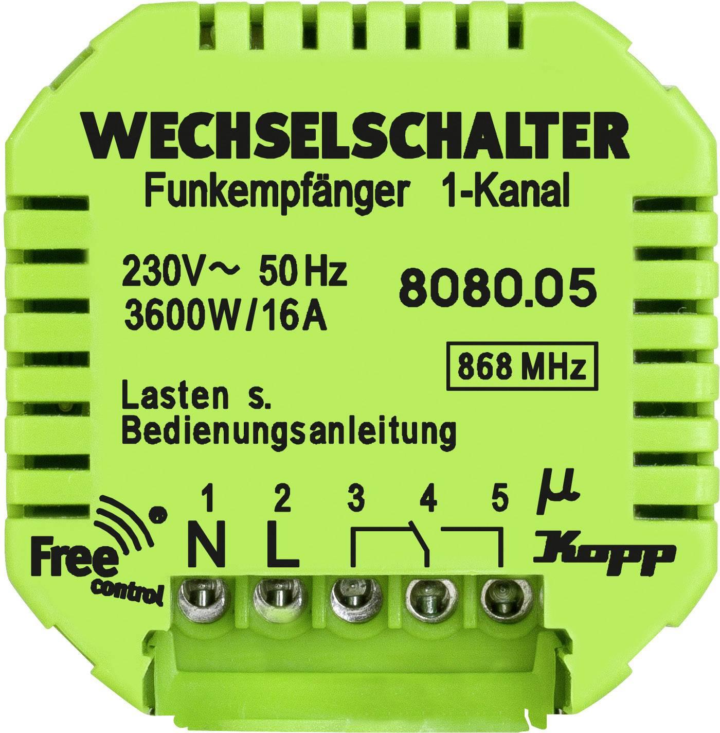 Bezdrôtový prijímač Kopp Free Control 808005128, 1-kanálový